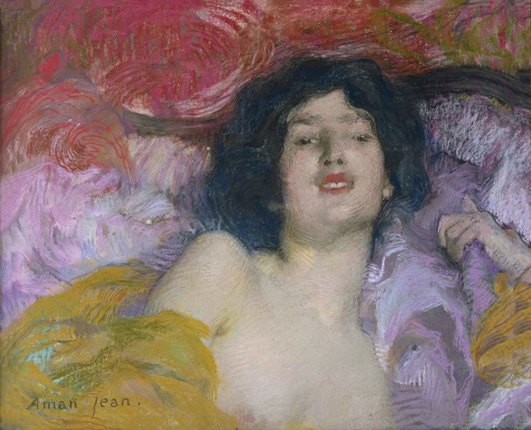 Edmond Aman-Jean, Femme allongée. Rêverie, 1897