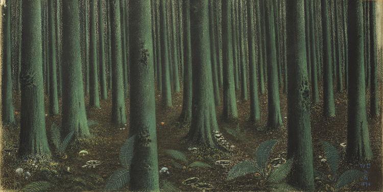 William Degouve de Nuncques Intérieur de forêt, 1894 [Interior de bosque] Musée de l'École de Nancy, Nancy © Nancy, musée de l'Ecole de Nancy. Photo Studio Image