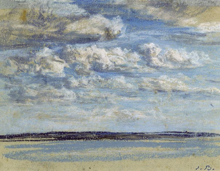 Eugène Boudin, Nuages blancs, ciel bleu, c. 1859