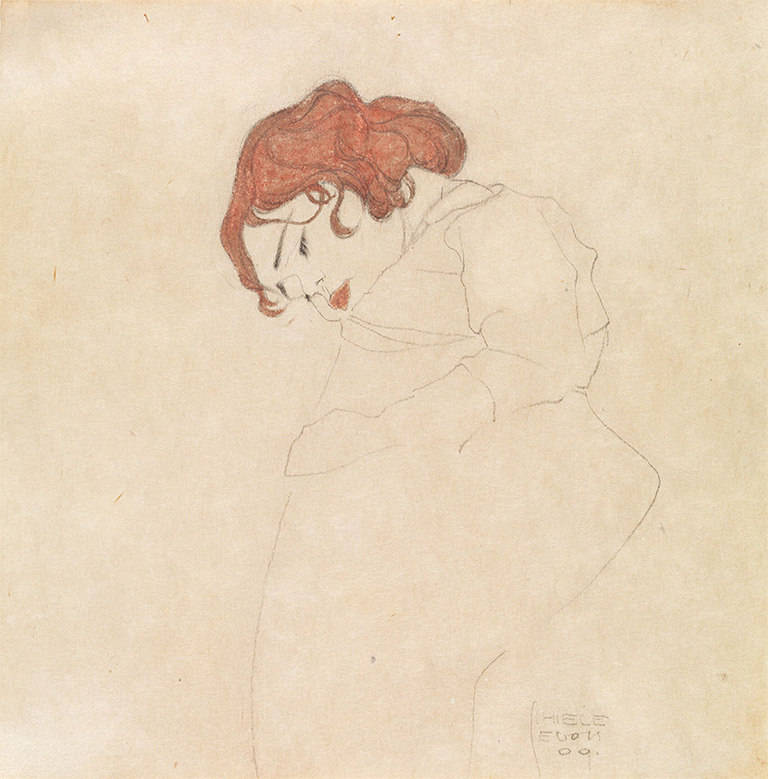 Egon Schielle Muchacha dormida, 1909