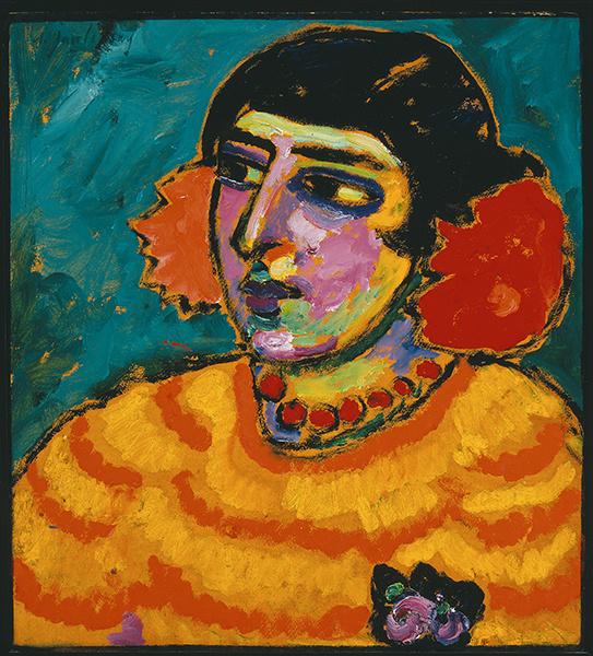 Spanische Frau [Mujer española], 1910 Óleo sobre cartón. 53,7 x 49,6 cm Colección particular Foto: Maurice Aeschimann